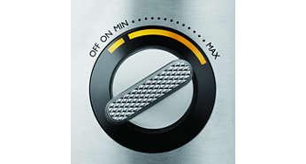 Controle de velocidade variável com iluminação