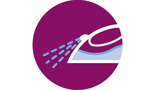 Spraydüse für gleichmäßiges Befeuchten der Bügelwäsche
