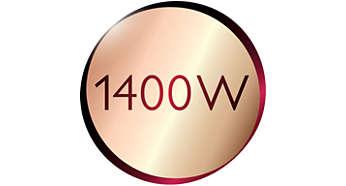 La potencia de 1400 W ofrece una salida de vapor abundante y continua