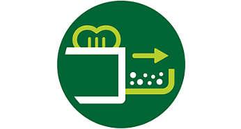 Vyberateľný zásobník na omrvinky pre jednoduché čistenie
