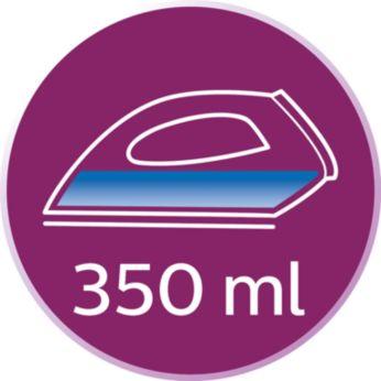 Резервуар увеличенного объема (350мл) позволяет реже доливать воду