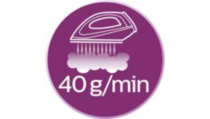 Постоянная подача пара до 40 г/мин
