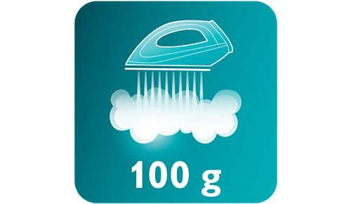 Dampskud på 100 g fjerner nemt genstridige folder