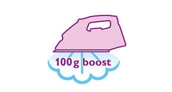 100 g steam boost to remove stubborn creases easily