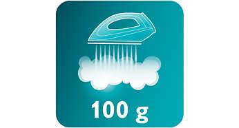 Vapor extra de 100g/min para tirar facilmente o amassado das roupas
