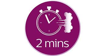 Prêt à l'emploi en 2minutes, remplissage possible à tout moment