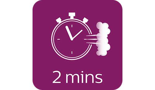 Klar til brug på 2 minutter med ubegrænset påfyldning