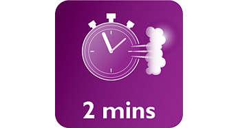 Gata de utilizare în 2 minute cu reîncărcare nelimitată