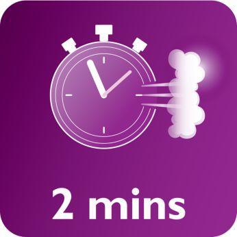 Paruoštas naudoti po 2 minučių su neribotu papildymu