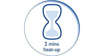 2 perc alatt készen áll a használatra korlátlan utántöltéssel