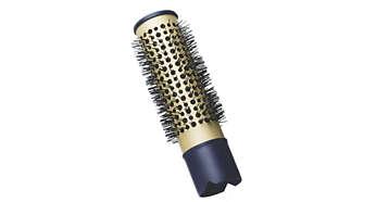Bulu sikat alami memberikan mekar & kemilau pada rambut Anda