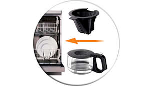 Dishwasher-proof parts