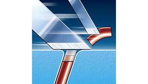 Tecnologia di rasatura Super Lift & Cut con sistema a doppia lama