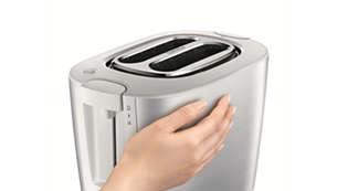 Zum gefahrlosen Anfassen der Toasteraußenfläche