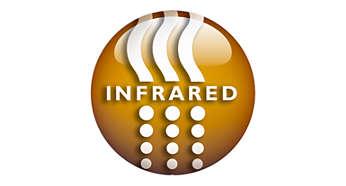 Funzione a infrarossi separata, per un calore gradevole