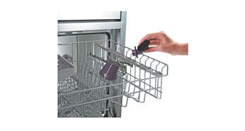 Detachable dishwasher-proof nozzle