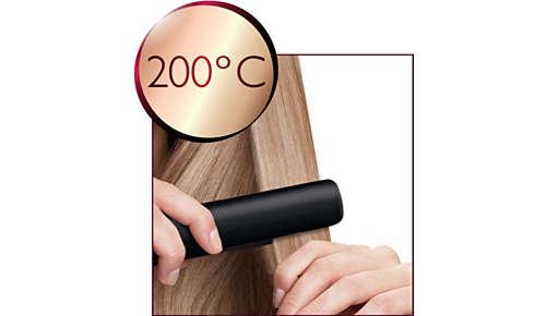 Temperatura professionale di 200 °C per risultati perfetti