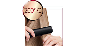 200°C professional high heat for perfect salon results