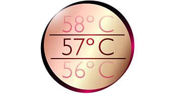 恆溫護髮將溫度保持在 57°C