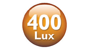 Up to 400 Lux for both natural awakening and easy reading