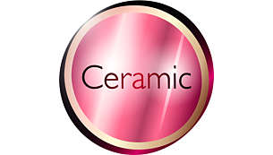 Ceramic element to smooth your hair
