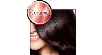 Керамический нагревательный элемент делает волосы более гладкими