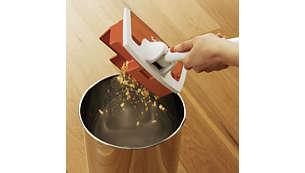 Esclusivo sistema per l'eliminazione dal vassoio dello sporco