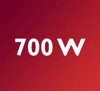Güçlü 700 W motor