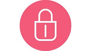Mecanismo de cierre en el mango para un almacenamiento fácil y seguro
