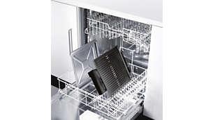 As peças podem ser lavadas na lava-louças