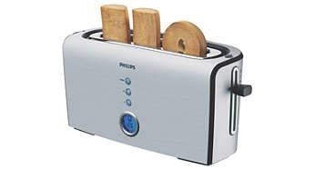Opção de tostagem em um lado para pães franceses e de fôrma