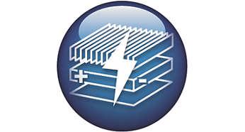 Système ElectroClean 3étapes pour polariser et attirer toutes les particules