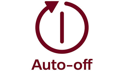 Automatisk avstängning direkt för säkerhet och för att spara energi