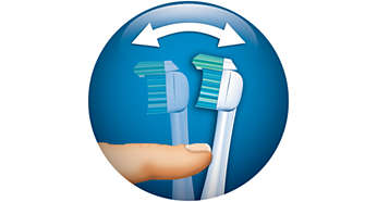Adjust to maintain optimal brushing pressure