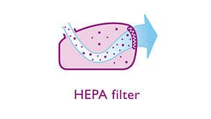 Filter HEPA za odlično filtriranje izhodnega zraka