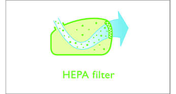 Filtre HEPA pour une excellente filtration de l'air sortant