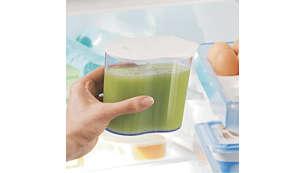 La jarra para zumo mantiene los zumos frescos durante más tiempo