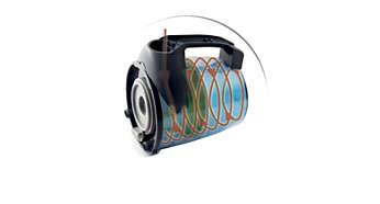 Vylepšený cyklónový filtr pro déle trvající sací výkon