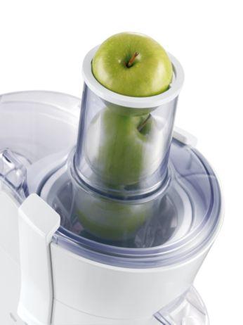 Sin necesidad de cortar, gracias al tubo de alimentación extra grande.