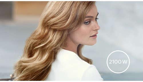 Professionelle 2100 W giver perfekte resultater som hos frisøren