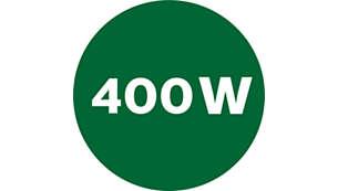 Kraftfull 400 W motor