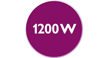 1200 Watt enables constant high steam output