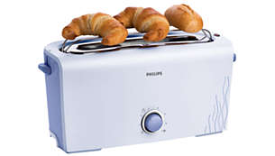 Integrated warming rack to warm pastries and croissants