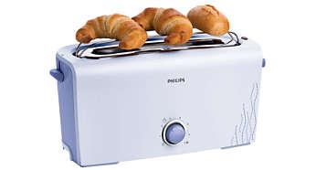 Ingebouwde opzethouder waarmee u broodjes en croissants kunt opwarmen