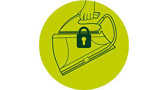 Verrouillez votre fer en toute sécurité sur la base
