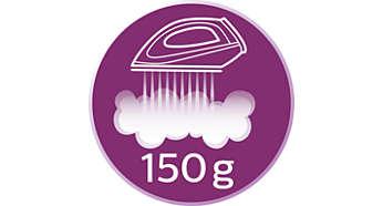 Colpo di vapore fino a 150 g per eliminare le pieghe più ostinate