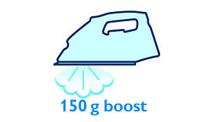 150 g steam boost to remove stubborn creases easily