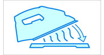 Hitzebeständige Matte: zum zwischenzeitlichen sicheren Abstellen Ihres heißen Bügeleisens