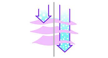 Particules de vapeur deux fois plus petites favorisant l'élimination des faux plis