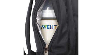 Сохраняет изначальную температуру содержимого бутылочек